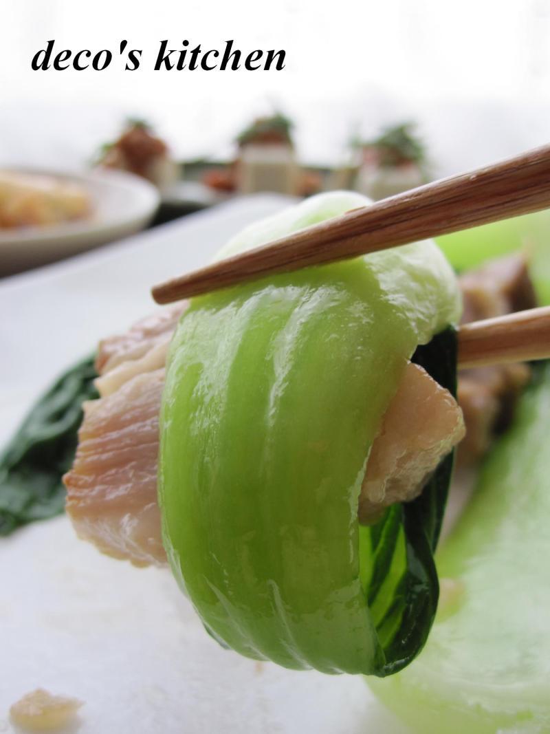 decoの小さな台所。-豚バラのオイスター醤油青梗菜添え5