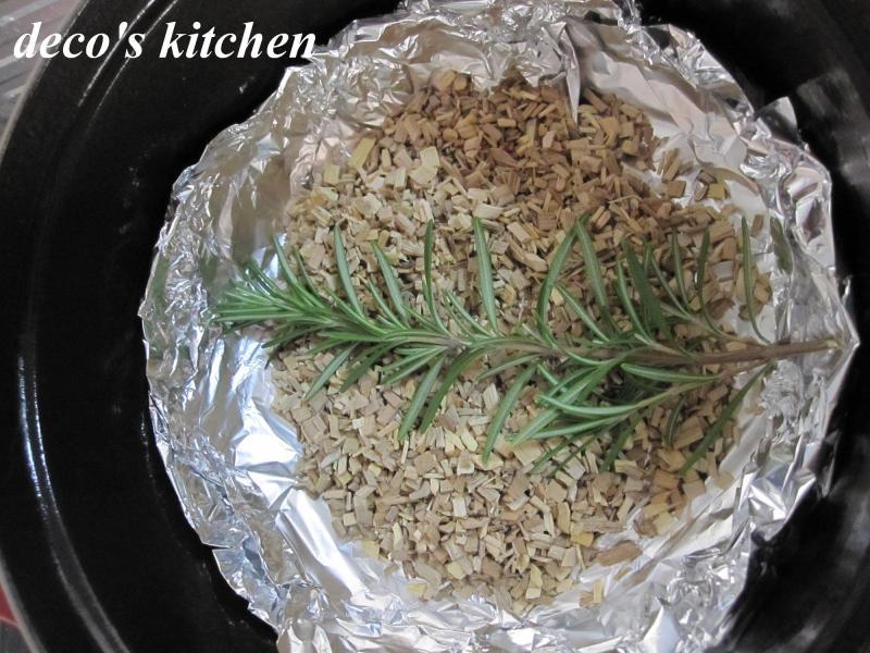 decoの小さな台所。-燻製時の鍋