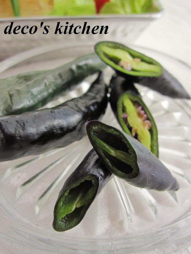 decoの小さな台所。-紫とうがらしでエスニック春雨サラダ6