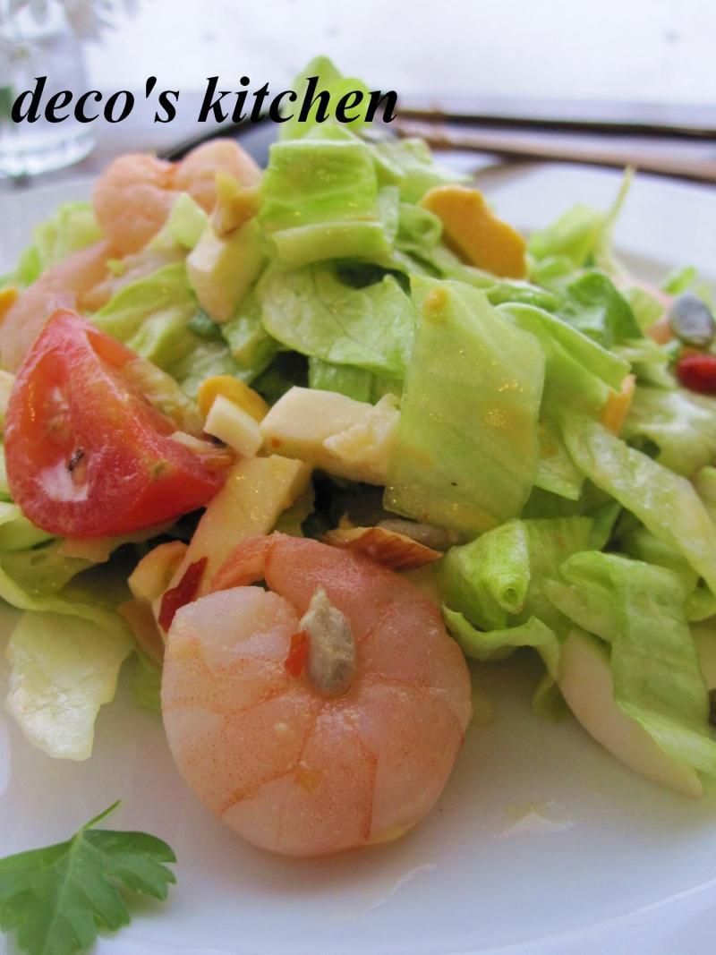 decoの小さな台所。-ざくっと太切りレタスのスイチリサラダ4