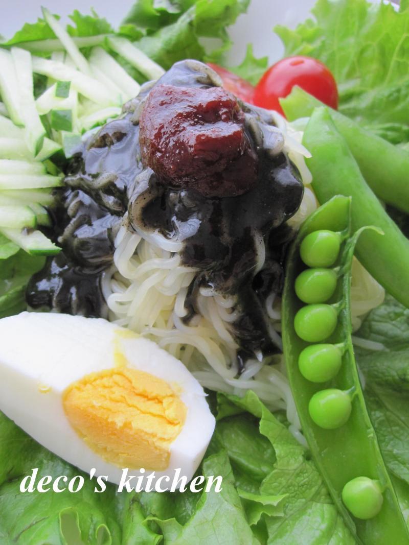 decoの小さな台所。-黒い冷麺4