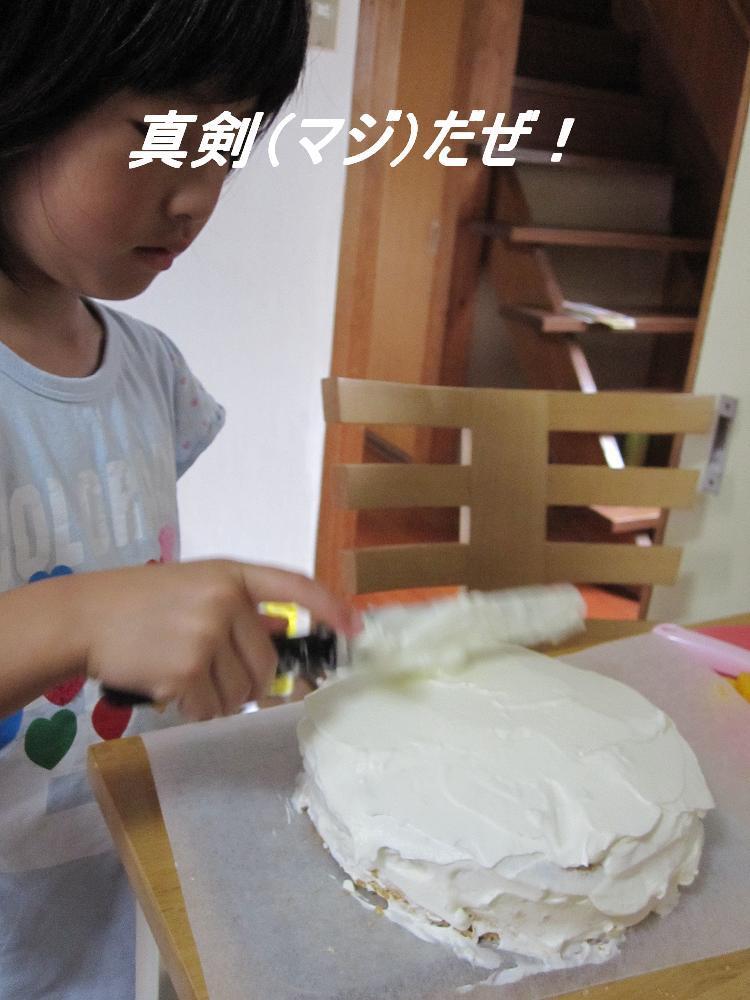 decoの小さな台所。-2010誕生日、ケーキ作り3
