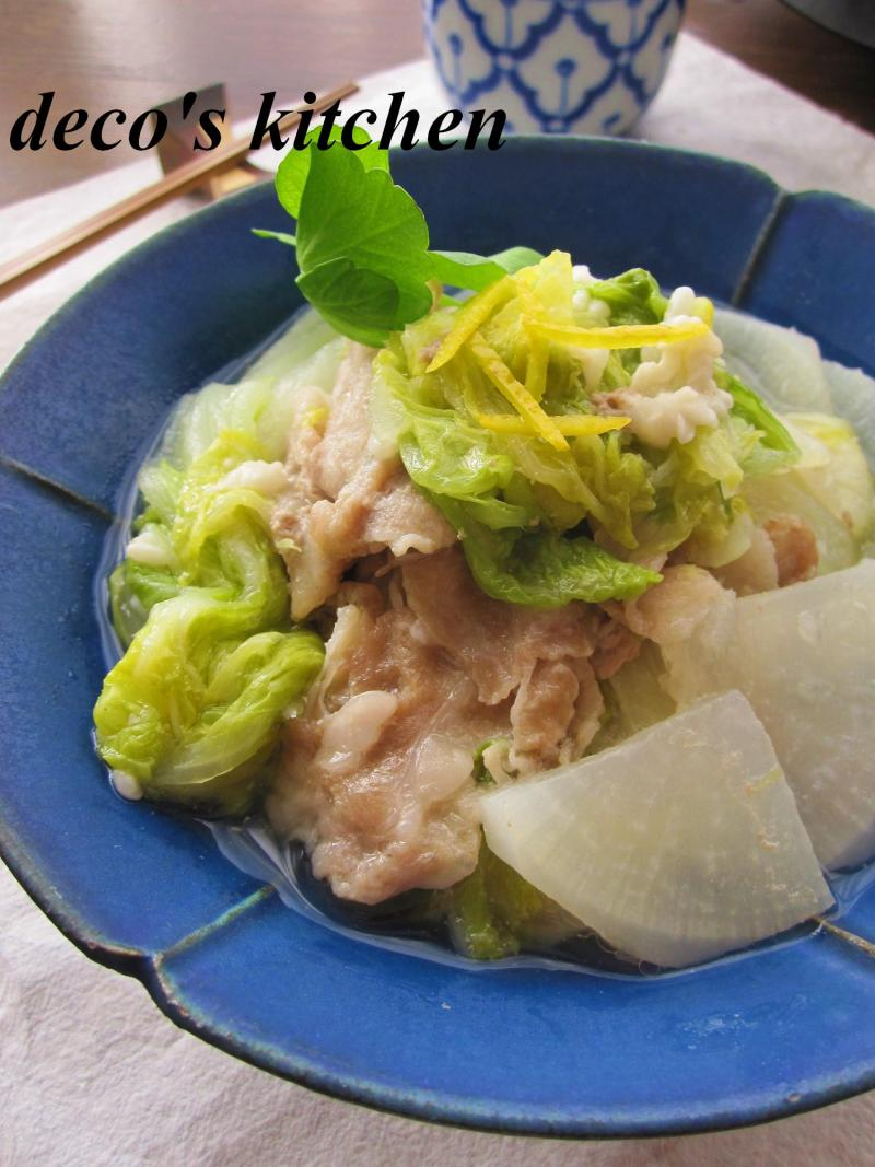 豚肉と大根と白菜の塩麹蒸し煮5