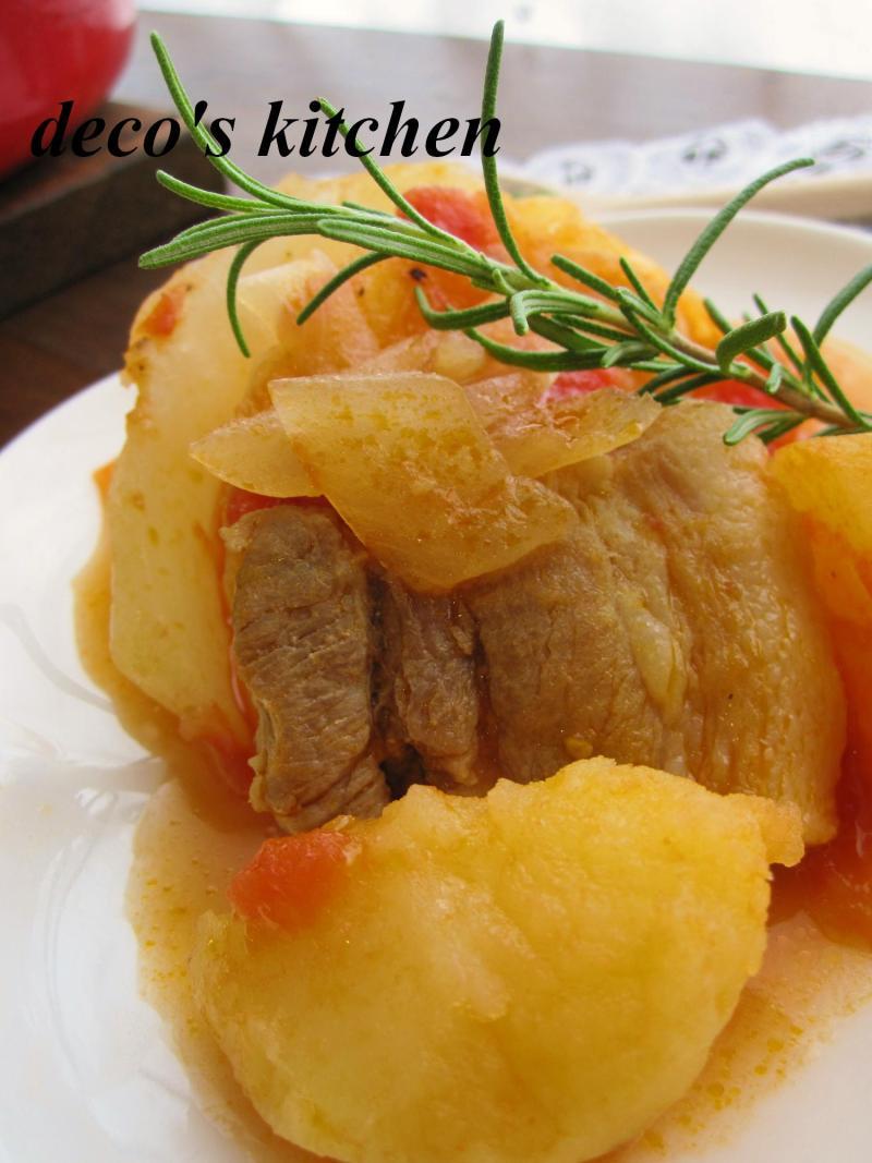 decoの小さな台所。-塩豚とじゃがいものトマト煮5