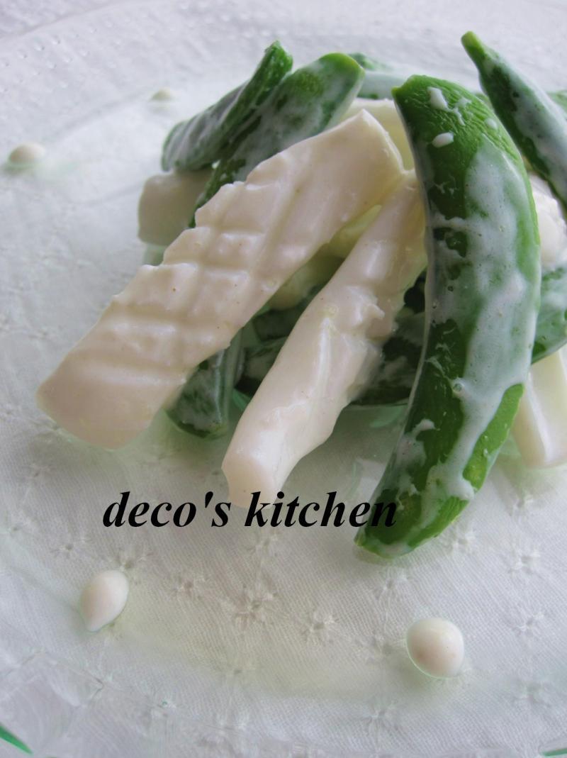 decoの小さな台所。-イカとスナップえんどう3