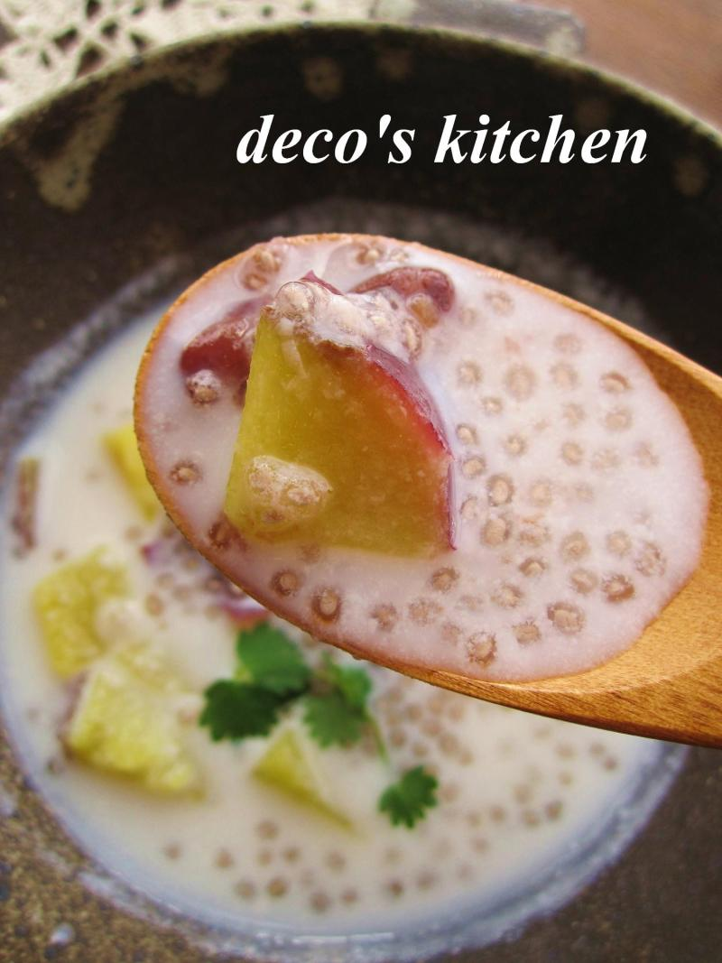 decoの小さな台所。-さつまいもとサルバチアのココナッツ汁粉5