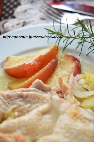 チキンとリンゴの煮込み7