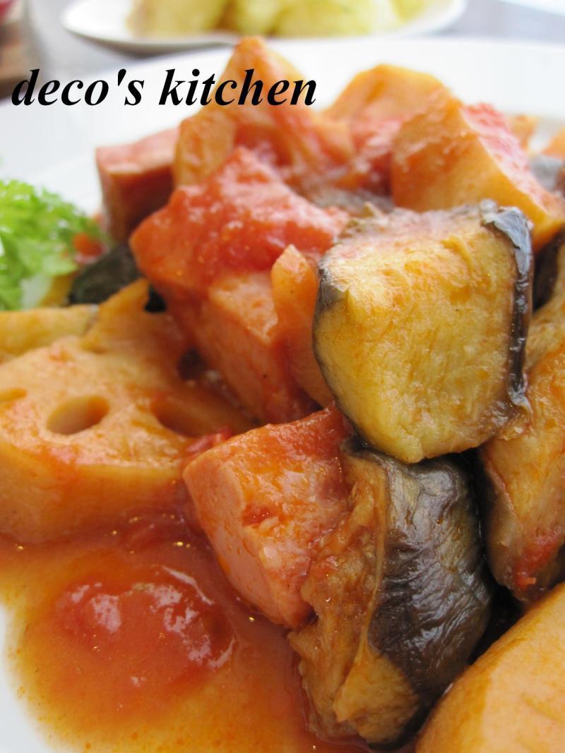 decoの小さな台所。-干し野菜とベーコンのトマト煮5