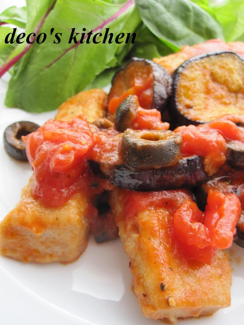 decoの小さな台所。-まぐろすき身とナスのトマトソテー3