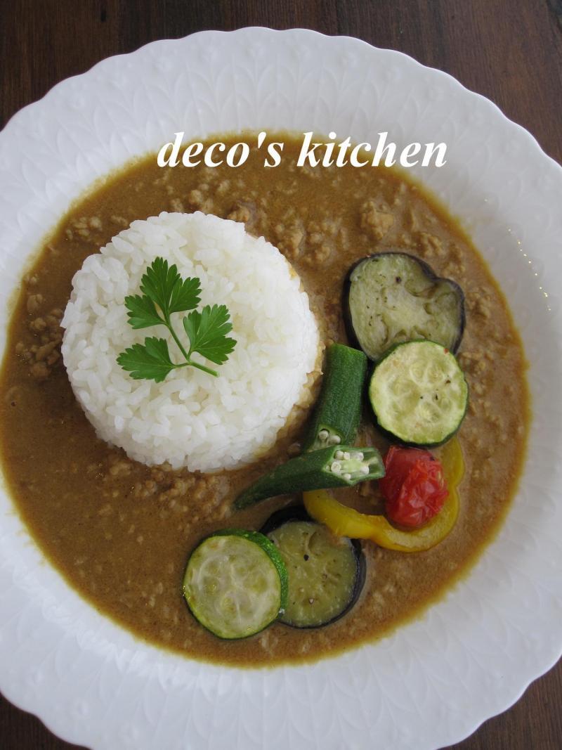 decoの小さな台所。-夏野菜の和風豆乳カレー5