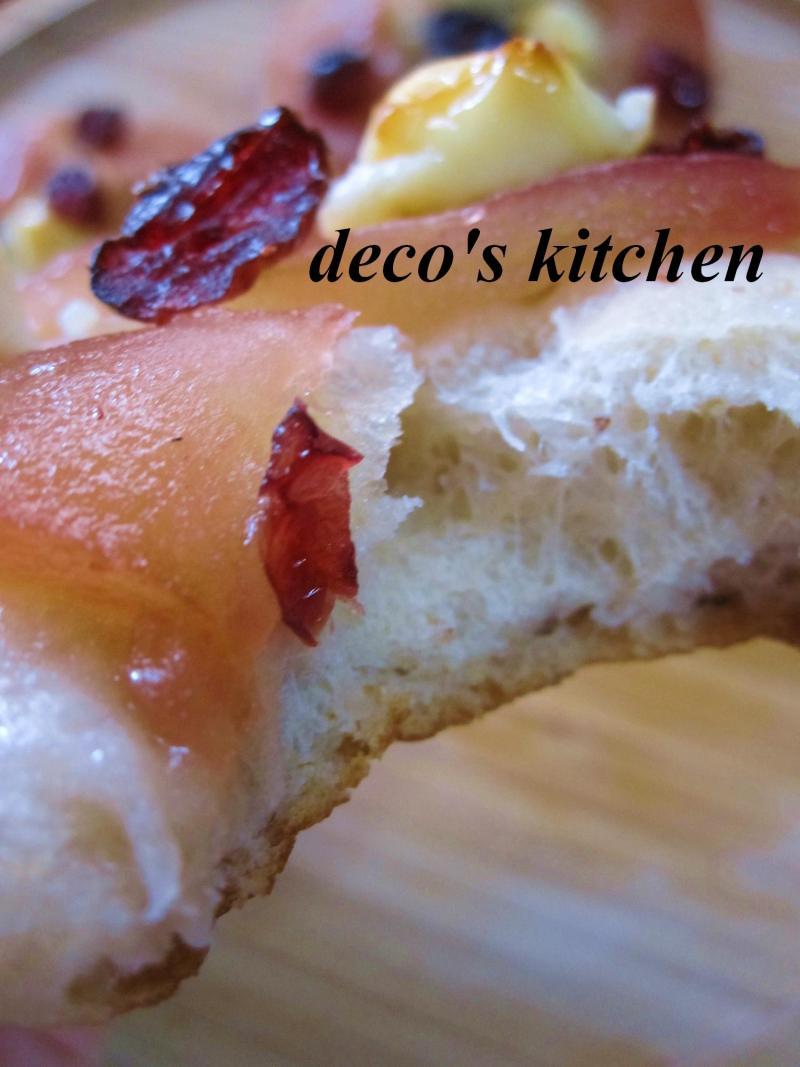 decoの小さな台所。-りんごとクリチとプルーンのデザートピザ7
