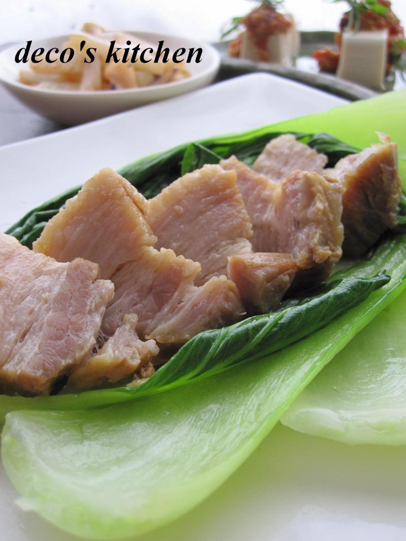 decoの小さな台所。-豚バラのオイスター醤油青梗菜添え2