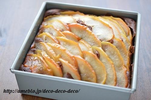 りんごとくるみのチョコケーキ1