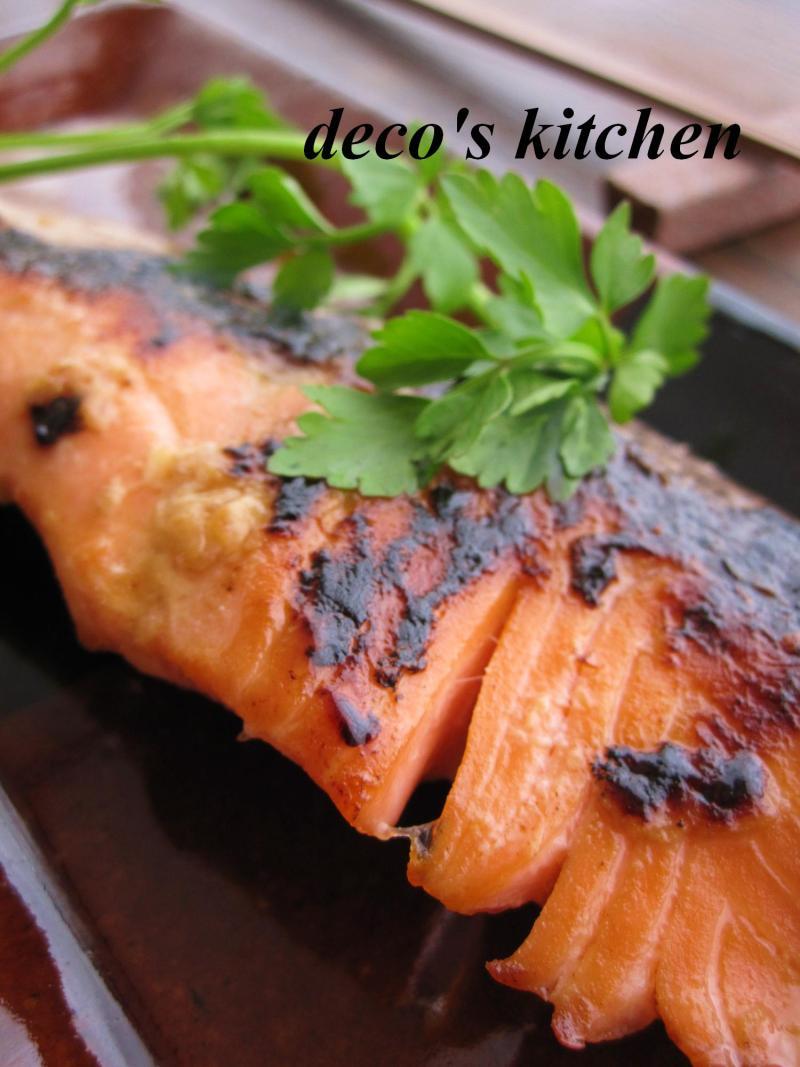 decoの小さな台所。-鮭の甘酒醤油漬け焼き4
