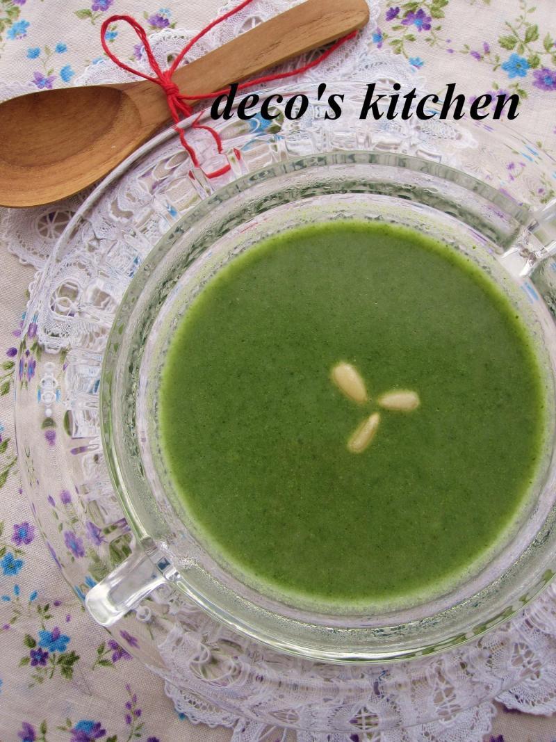 decoの小さな台所。-ほうれん草と長芋の塩麹ポタージュ4