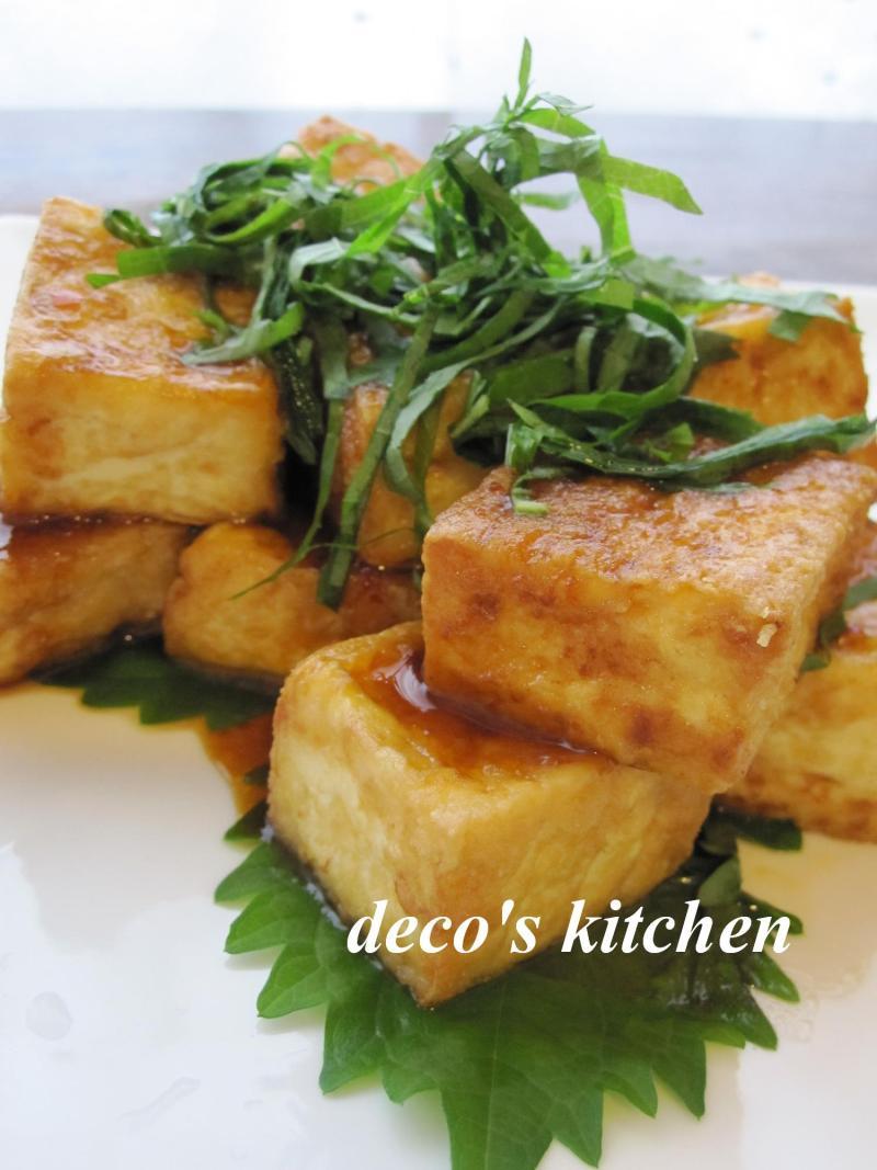 decoの小さな台所。-厚揚げのピリ辛オイスター醤油だれ2