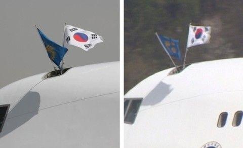 自国の国旗の向きさえ理解できないバ韓国塵