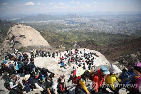 登山でウイルスをまき散らすバ韓国塵ども