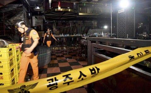 バ韓国で建造物崩壊! 世界水泳の選手も巻き込まれる