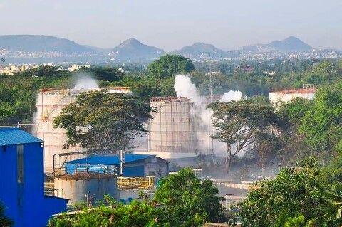 インドにあるバ韓国企業の工場で有毒ガス流出