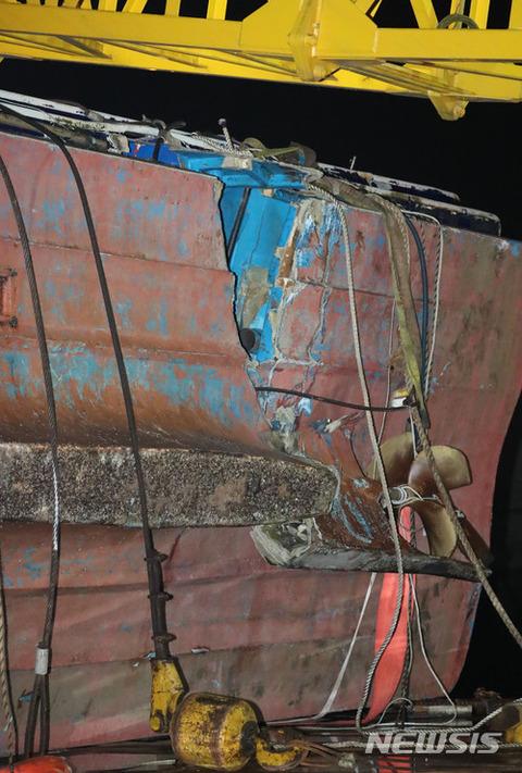 遺族が大喜び中! バ韓国の釣り船ソンチャン1号