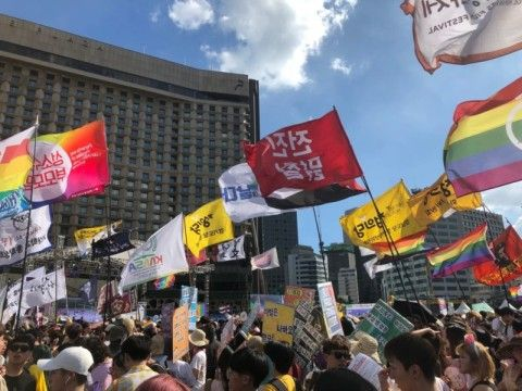 バ韓国で開催された同性愛者どものイベント