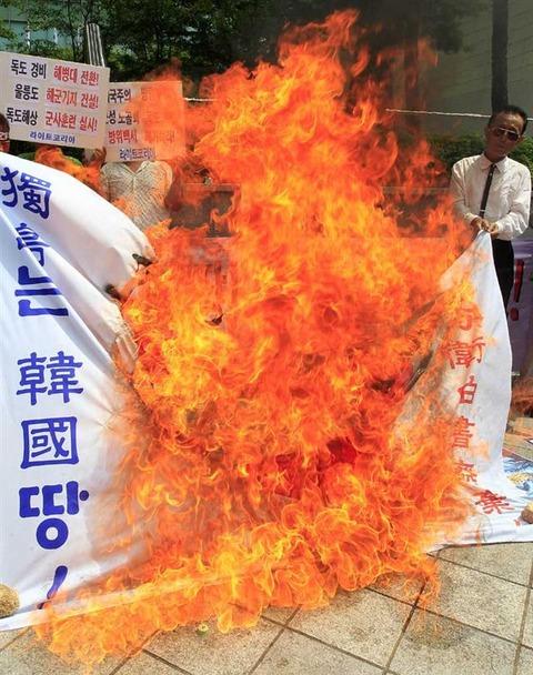 放火行為はバ韓国塵のたしなみです