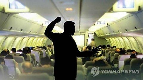在日バ韓国塵がエアプサン機内で大暴れ