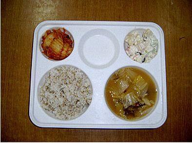韓国刑務所の貧しい食事