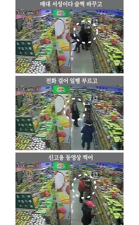 スーパーに商品を紛れ込ませている詐欺集団