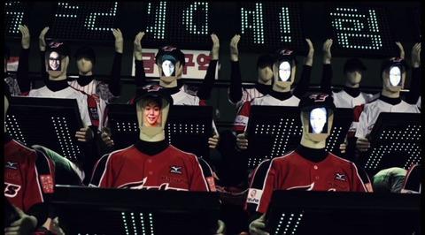 ロボット応援団、屑チョンの顔が表示されて気持ち悪いですね