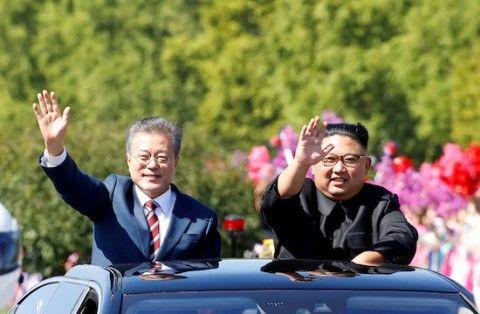 南北融和を強引に進めるバ韓国の文大統領