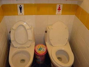 男女共用トイレが数多く存在するバ韓国