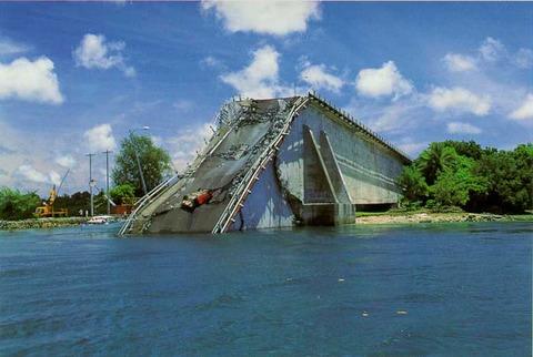 完成後わずか半年で崩壊した韓国製の橋