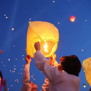 バ韓国貯油所の火災は熱気球(天灯)が原因