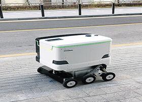 バ韓国の配達ロボット、発火機能付き