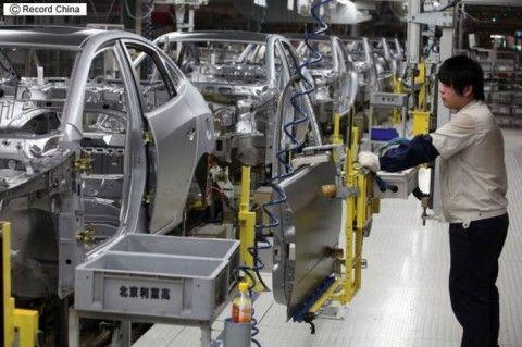 北京にあるバ韓国の自動車工場が稼働中止に