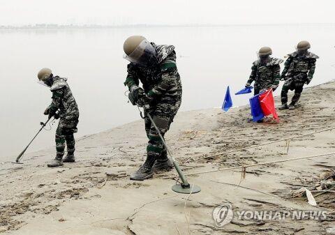 バ韓国の首都を流れる漢江は地雷まみれ