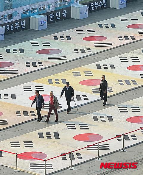 バ韓国の国旗はまさに馬鹿の象徴