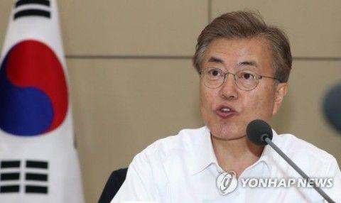 北チョンに投資する気ムンムンのバ韓国文大統領
