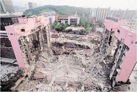 震度ゼロでも崩壊するのがバ韓国の建造物
