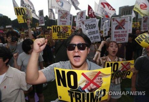 トランプを敵視するバ韓国塵ども