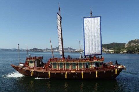 バ韓国が復元した朝鮮通信使船