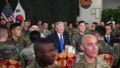 北チョンがアメリカとバ韓国の合同訓練の中止を要求
