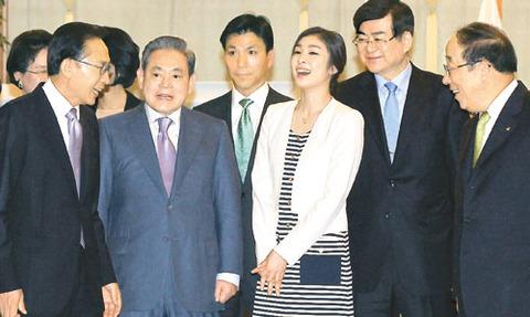 バ韓国のスポーツ団体のTOPは財閥関係者ばかり