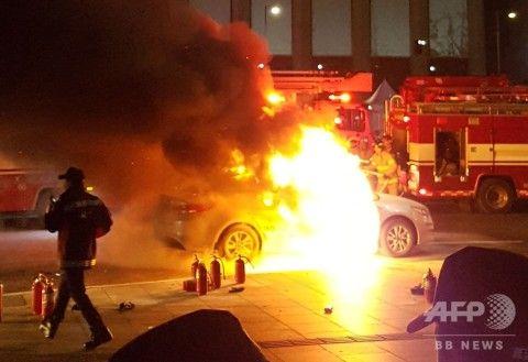 バ韓国でタクシー運転手がまた焼身自殺