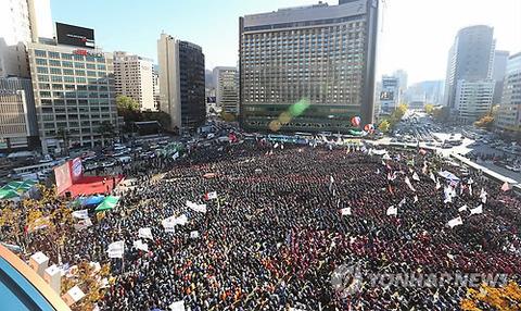 2013年11月10日、ソウルで全国労働者大会