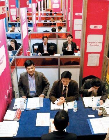バ韓国で行われた海外就職博覧会