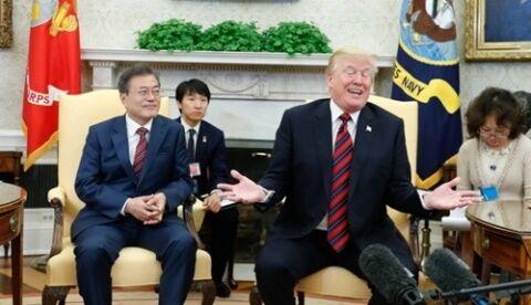 バ韓国塵の低脳ぶりに呆れるトランプ大統領