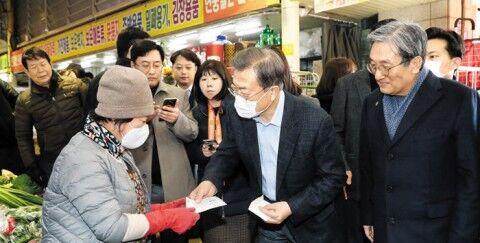 武漢肺炎の火消しに必死のバ韓国・文大統領